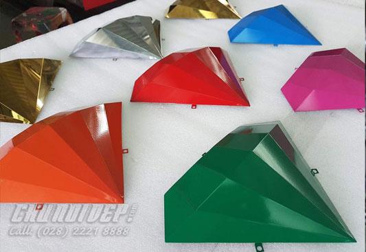 sản xuất Viên kim cương inox sơn hấp nhiệt