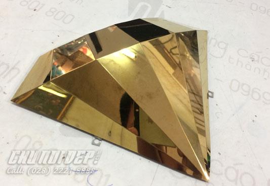 gia công sản xuất viên kim cương inox vàng