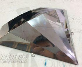 kim cương inox trắng