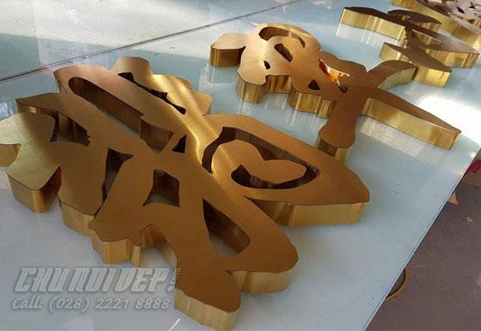 chữ inox vàng 304